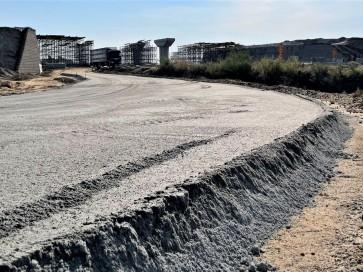 Устройство дорожного основания из песка, щебня, ПЩС